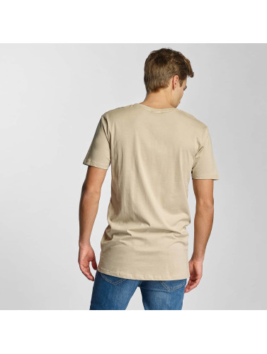 Urban Classics Herren T-Shirt Basic V-Neck in beige