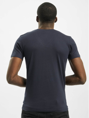 Urban Classics Herren T-Shirt Pocket in blau