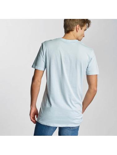 Urban Classics Herren T-Shirt Basic V-Neck in blau