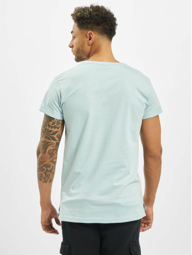 Urban Classics Herren T-Shirt Turnup in blau