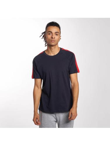 Urban Classics Herren T-Shirt Stripe Raglan in blau