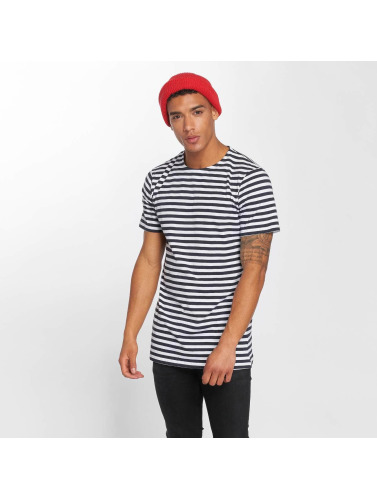 Urban Classics Herren T-Shirt Stripe in blau