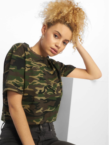 Urban Classics Damen T-Shirt Cropped Oversize in camouflage