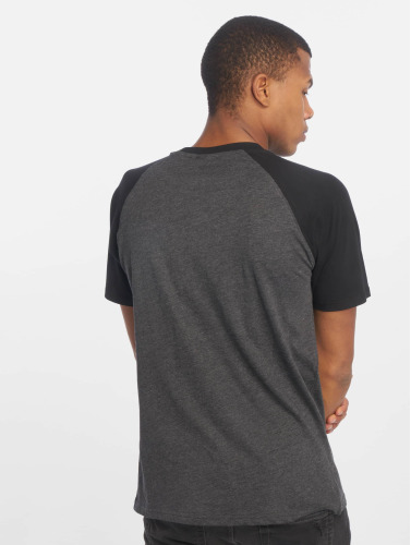 Urban Classics Herren T-Shirt Raglan Contrast in grau