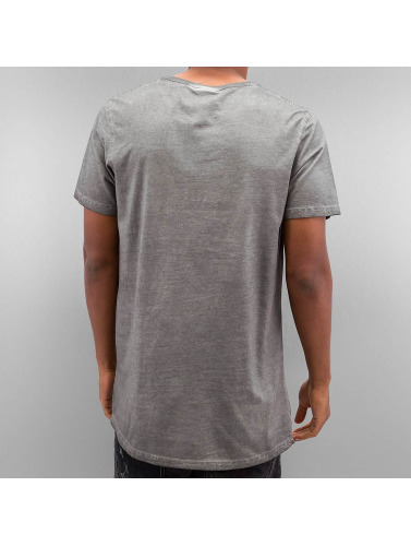 Urban Classics Herren T-Shirt Shaped Long Cold Dye in grau