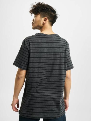 Urban Classics Herren T-Shirt Striped in grau