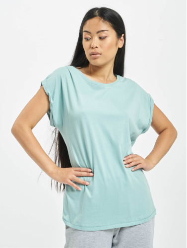 Urban Classics Damen T-Shirt Extended Shoulder in grün