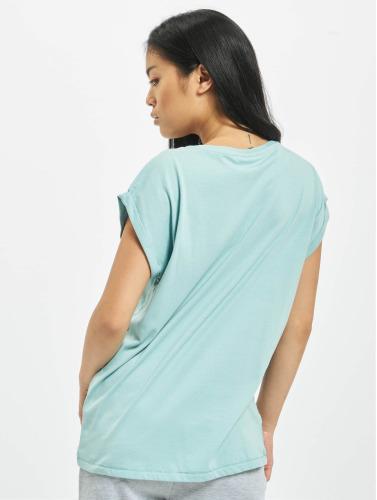 Urban Classics Damen T-Shirt Extended Shoulder in grün