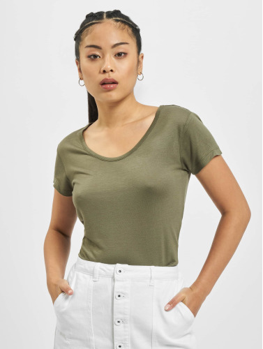 Urban Classics Damen T-Shirt Ladies Basic Viscose in olive