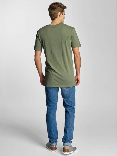 Urban Classics Herren T-Shirt Basic V-Neck in olive