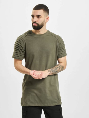 Urban Classics Herren T-Shirt Pleat in olive