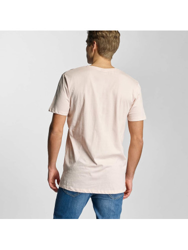 Urban Classics Herren T-Shirt Basic V-Neck in rosa