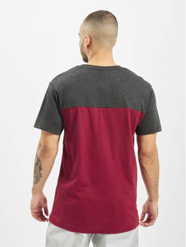Urban Classics Herren T-Shirt 3-Tone Pocket in rot