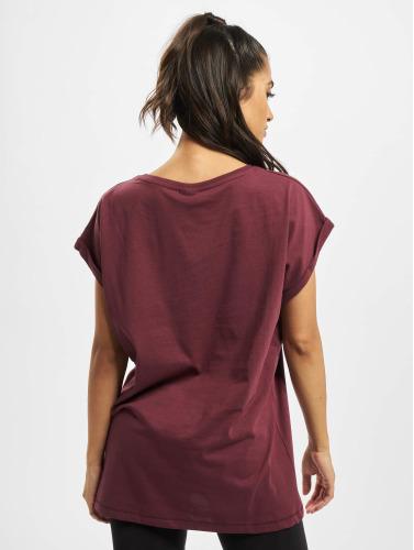 Urban Classics Damen T-Shirt Extended Shoulder in rot