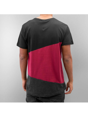 Urban Classics Herren T-Shirt Long Shaped Zig Zag in schwarz