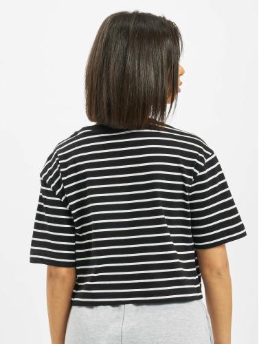 Urban Classics Damen T-Shirt Ladies Striped Oversized in schwarz