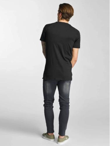 Urban Classics Herren T-Shirt Pleat in schwarz