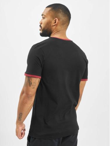 Urban Classics Herren T-Shirt Ringer in schwarz