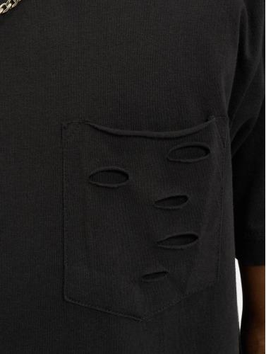 Urban Classics Herren T-Shirt Ripped in schwarz
