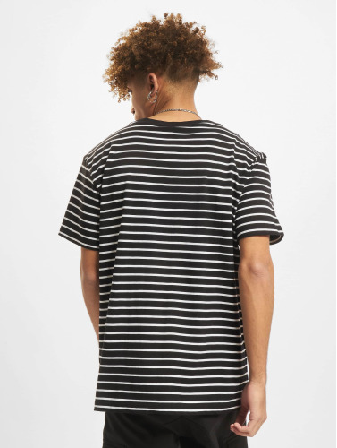 Urban Classics Herren T-Shirt Striped in schwarz