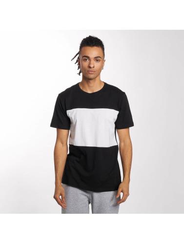 Urban Classics Herren T-Shirt Contrast Panel in schwarz