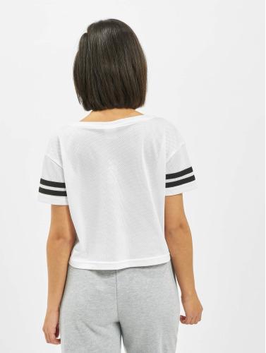 Urban Classics Damen T-Shirt Mesh Short in weiß