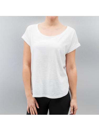 Urban Classics Damen T-Shirt Long Back Shaped Slub in weiß