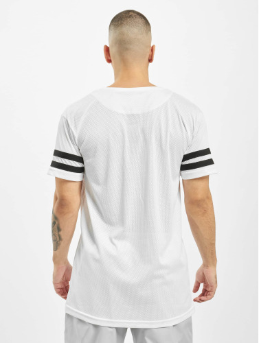 Urban Classics Herren T-Shirt Stripe Mesh in weiß