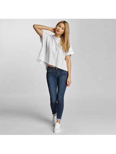 Urban Classics Damen T-Shirt Overlap Turtleneck in weiß