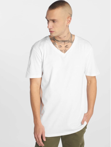 Urban Classics Herren T-Shirt Basic V-Neck in weiß