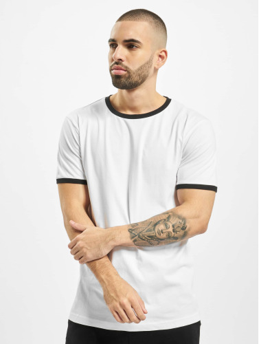 Urban Classics Herren T-Shirt Ringer in weiß