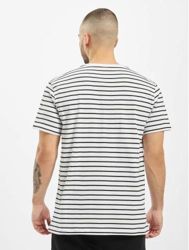 Urban Classics Herren T-Shirt Striped in weiß