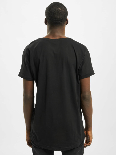 Urban Classics Hombres Tall Tees Long Shaped Turnup in negro
