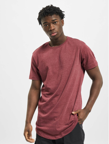 Urban Classics Hombres Tall Tees Shaped Melange Long in rojo