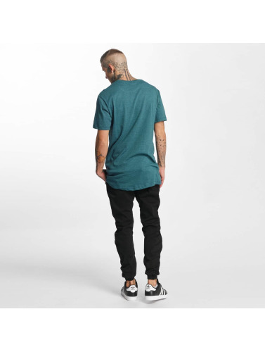 Urban Classics Hombres Tall Tees Shaped Melange Oversized Long in turquesa