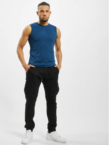 Urban Classics Hombres Tank Tops Active Melange in azul