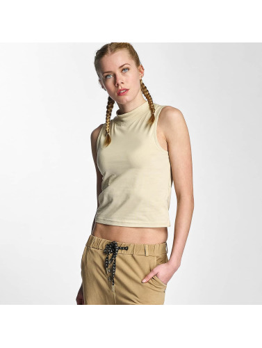 Urban Classics Mujeres Tank Tops Ladies Turtleneck in beis