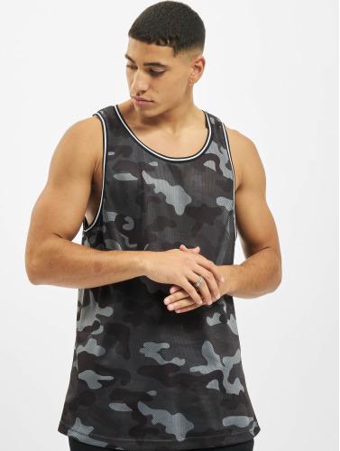 Urban Classics Hombres Tank Tops Camo Mesh in camuflaje