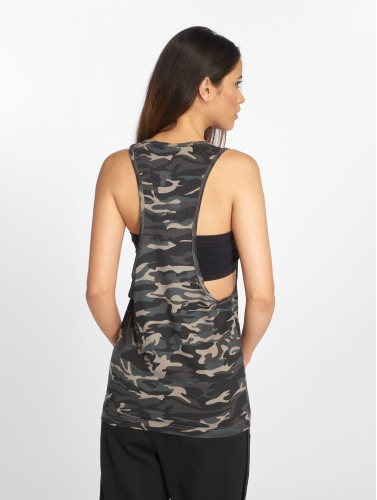 Urban Classics Damen Tank Tops Ladies Camo Loose in grau