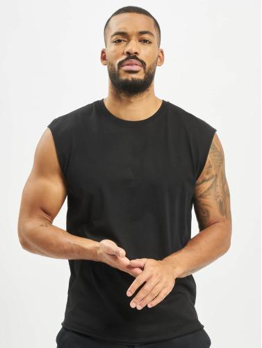 Urban Classics Hombres Tank Tops Open Edge Sleeveless in negro