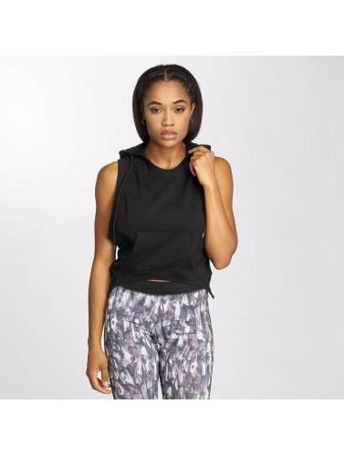 Urban Classics Mujeres Tank Tops Terry Hooded in negro