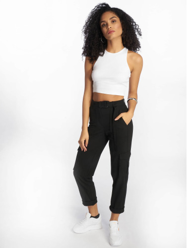 Urban Classics Damen Tank Tops Cropped Rib in weiß