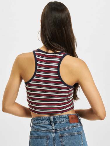 Urban Classics Mujeres Top Rib Stripe in blanco