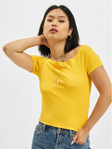 Urban Classics Damen Top Rebecca in gelb