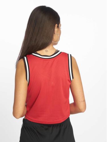 Urban Classics Mujeres Top Mesh Crop in rojo