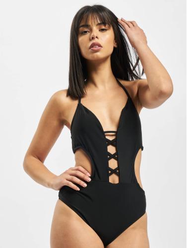 Urban Classics Mujeres Trajes de baño Lace Up in negro