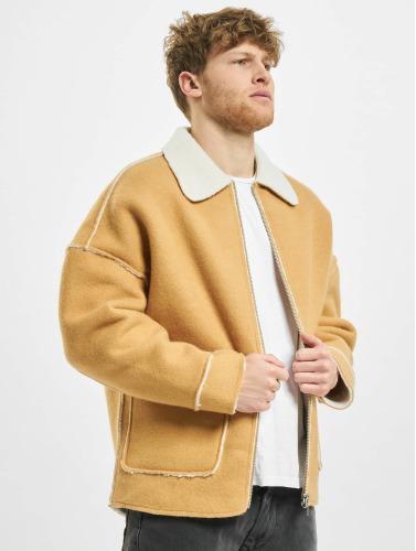 Urban Classics Herren Übergangsjacke Bonded Oversized Sherpa in beige