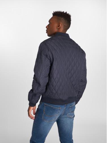 Urban Classics Herren Übergangsjacke Diamond Quilt Nylon in blau