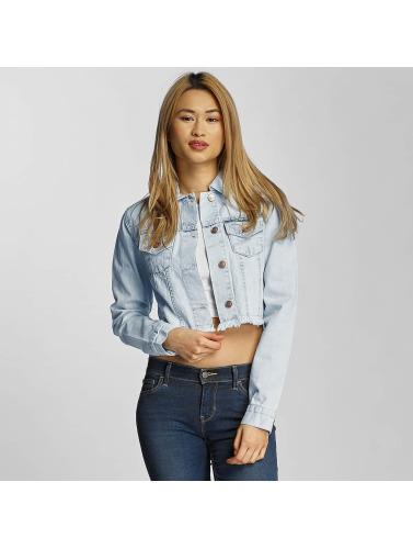 Urban Classics Ladies Transition Jacket Ladies Short Denim In Blue
