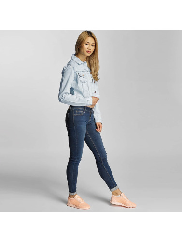 Urban Classics Damen Übergangsjacke Ladies Short Denim in blau